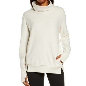 ALO YOGA Warmth Cover-up Turtleneck In Bone Size small